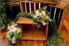 Vintage Garden Peach Wedding Ideas   Crates, Peach Weddings and ...