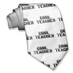 Shop Cool Teacher Tie created by HolidayZazzle. New Teacher Gifts, New Teachers, Custom Ties, Neckties, Unique Image, Cool Gifts, Night Out, Prints, Design
