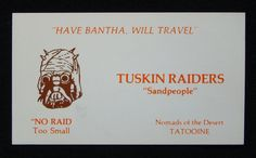If Star Wars Characters Had Business Cards, They'd Look Like This