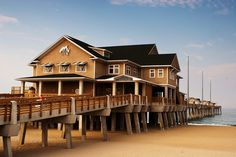 Jennette's Pier, Nags Head, NC. I had a dream about this place a while ago and I've never seen it nor have I been there. Weird...
