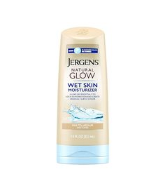 Jergens Wet Skin Moisturizer ($9) Getting a sun-kissed glow has never been easier. The newest iteration of Jergens' cult Natural Glow moisturizer is an in-shower moisturizer. Just slather it on right after showering on damp skin, and then carry on with your normal routine. The color sinks in and promises to gradually deepen your glow over time. Lotion haters, rejoice!