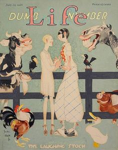 JOHN HELD JR. (American, 1889-1958) Life magazine cover art, July 29, 1926 Watercolor, gouache, and ink on board