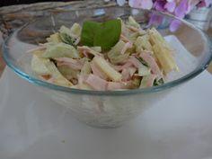 Czary w kuchni- prosto, smacznie, spektakularnie.: Sałatka z szynką, ogórkiem i serem Potato Salad, Salads, Potatoes, Ethnic Recipes, Food, Meal, Potato, Essen, Hoods