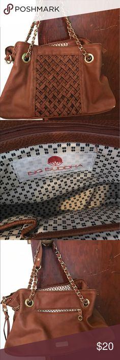 Big Buddha handbag Big Buddha leather handbag. Gold chain shoulder straps. Big Buddha Bags Shoulder Bags