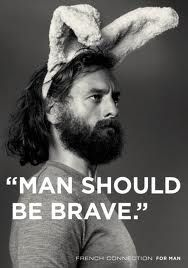 """""""A man should be brave"""" - And have a beard #humor"""