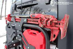 JcrOffroad, Inc. Adventure Tire Carrier Hi-lift Mount - JK Wrangler