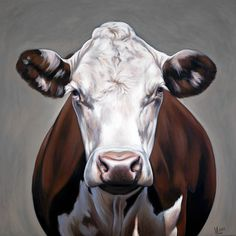 Original acrylic painting x by Artist Valerie Miller of Steel Cow Galler. Cow Paintings On Canvas, Original Paintings, Canvas Art, Paintings Of Cows, Cow Pictures, Happy Cow, Farm Art, Cow Art, Painting Inspiration