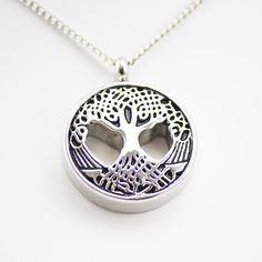 Cremation Urn Necklace for Ashes - Sacred Tree