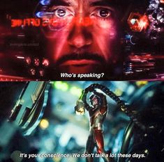 "Captain America: Civil War. Finding Nemo reference anyone? 'Are you my conscience?' 'Yeah we haven't spoken in a while, how are you?'<<< We even had an ""Empire Strikes Back"" part in this movie."