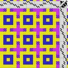 Billedresultat for deflected double weave patterns Weaving Textiles, Weaving Patterns, Textile Patterns, Textile Design, Textile Art, Hobbies And Crafts, Diy And Crafts, Arts And Crafts, Loom Weaving