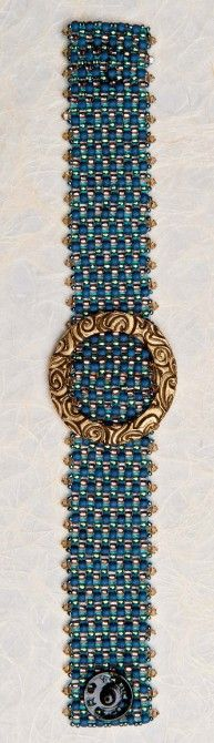 Peyote Stitch Buckle Bracelet...have several antique ones which would be so cute!!