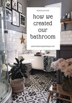 32 Rustic to Ultra Modern Master Bathroom Ideas to Inspire Your Next Renovation - The Trending House Metro Tiles Bathroom, Loft Bathroom, Modern Master Bathroom, Upstairs Bathrooms, Bathroom Floor Tiles, Grey Bathrooms, Bathroom Design Small, Bathroom Interior, Tile Floor