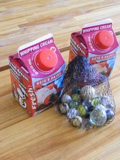 """No way!  Would this really work?  Blog says """"Add a couple marbles to a container of cream and let them shake it into butter for Thanksgiving dinner.  Not only are they learning something and contributing to the meal, they're happily occupied while you prepare the rest of the meal!"""""""
