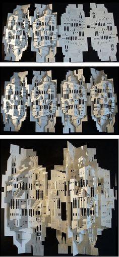 Ingrid Siliakus paper building origami http://www.pleatfarm.com/2009/09/30/the-paper-architect-ingrid-siliakus/