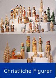 Christliche Figuren für die Generationspyramide aus dem Erzgebirge