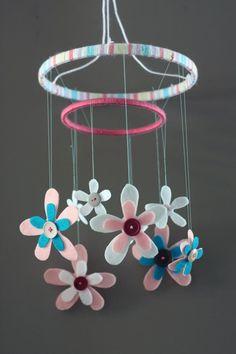 24 best mobile ideas images diy ribbon child room flower mobile