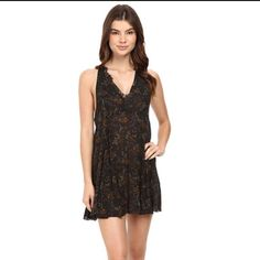 Free People Floral French Girl Slip Dress