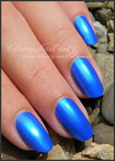 vernis Kiko quick dry metallic blue 830 Cherry Nail Art, Accent Nails, Metallic Blue, Quick Dry, Swatch, Polish