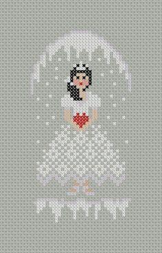 Little Snow Princess PDF Cross Stitch Pattern by PatternBird, $4.00