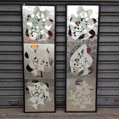DEDDE ART 2 miroirs fantaisies des années 50/60
