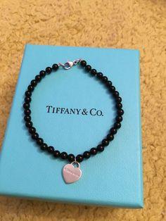 Wonderful Tiffany & Co Sterling Silver and Onyx Beaded Bracelet by Tiffanytreasureshop on Etsy