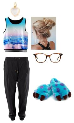 """Lazy Day #2"" by natsukidragneel ❤ liked on Polyvore featuring Ray-Ban and Loquet"
