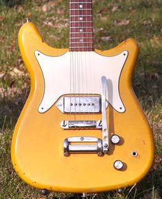 1965 Epiphone Coronet in Custom Sunset Yellow Guitar Room, Music Guitar, Guitar Amp, Cool Guitar, Playing Guitar, Acoustic Guitar, Epiphone Electric Guitar, Vintage Electric Guitars, Cool Electric Guitars