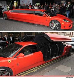 What? You haven't seen a stretch Ferrari limousine before?