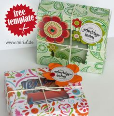 Free template: Birthday cake kit. Available in German, English and Dutch. Pretty cool, right?