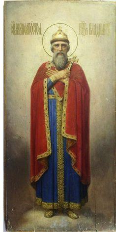 Горбунов К.А.  Равноапостольный  князь Владимир. 1882 г. Дерево, масло