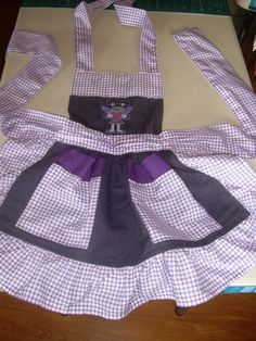 Fairy purple little girl apron