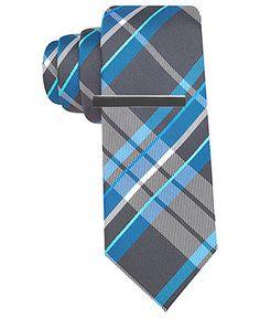 Alfani RED Tie, Vincy Plaid with Tie Bar - Ties - Men - Macys