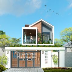 Minimal House Design, Modern Villa Design, Duplex House Design, Dream Home Design, Tiny House Design, Modern Tropical House, Tropical House Design, Tropical Houses, Modern Architecture House