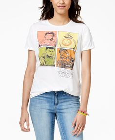 Juniors' Star Wars Characters Graphic T-Shirt from Mighty Fine