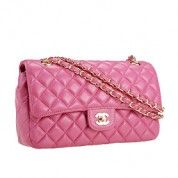 Chanel Classic Flap Pink With Gold Chain  $192