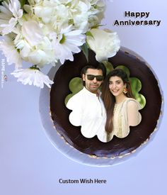 Anniversary cake with photo frame download, anniversary cake for husband, anniversary cake for wife. Share this cake with your spouse and tell how much love you have for. Happy Marriage Anniversary Cake, Anniversary Cake Pictures, Anniversary Cake With Photo, Anniversary Wishes For Parents, Husband Anniversary, Wedding Anniversary, Birthday Cake Write Name, Birthday Cake Writing, Cake Name