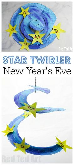 Gorgeous Paper Plate Star Twirler for New Year's Eve or Baby's Room. Get your toddler and preschooler involved with thise adorable and easy Paper Plate Whirligig. Adorable. Love this Paper Plate Star Twirler #newyearseve #babysroom #preschooler #paperplates #twirler #whirligig