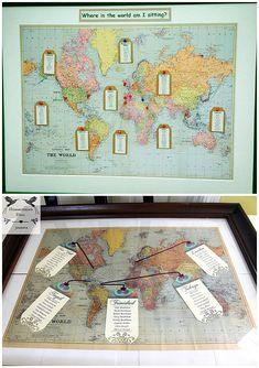 World Map Wedding Table Plan Used At Real Weddings