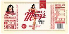 Client: Miss Mary's Mix Agency: Brandon Van Liere Designer: Brandon Van Liere Illustrator: Joel Herrera Code: Cory Etzkorn Bottle Photography: Dave Marrkley; Periscope