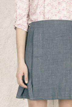 Colección SS15 OHIO GIRLS by La Böcöque. Prendas creadas con mucho mimo en nuestro taller. 100% Made in Spain. Falda Rolling