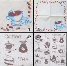 Купить салфетки декупаж 2 вида чашка кофе кофейные зерна салфетка декупажная