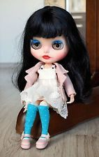 Custom Neo factory Blythe doll with Pure Neemo Body, ooak, CCE, black long hair