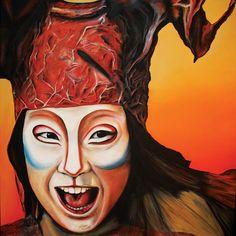 Elisa Pettenon Vivant - 2013 Water soluble oils on canvas 72 x 72 cm Sofitel Hotel, Oil On Canvas, Halloween Face Makeup, Water, Art, Cirque Du Soleil, Gripe Water, Art Background, Kunst