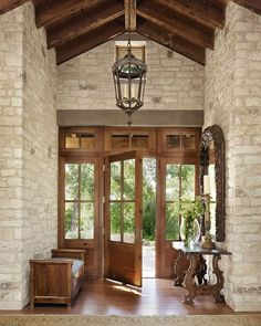 How do you feel about a little stone & wood combo? This entry that is sure to wow