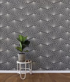 Skinny la Minx wallpaper in the 'Palmetto' design available at http://www.robinsprong.com/collections/skinny-laminx/