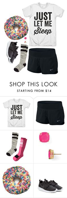 """""""What do you say when tears are streaming down your face in front of everyone you know?"""" by tinyblueowls ❤ liked on Polyvore featuring NIKE, Victoria's Secret PINK and Kate Spade"""