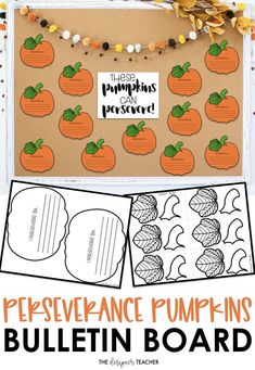 Get your classroom bulletin board ready for fall and Halloween with this perseverance pumpkins craftivity. Perfect for encouraging a growth mindset! Includes a low-prep version if you want to just print and go! Works for September, October, and November! October Bulletin Boards, Classroom Bulletin Boards, Fall Pumpkins, Halloween Pumpkins, Pumpkin Crafts, Elementary Teacher, Growth Mindset, Special Education, Halloween Gourds