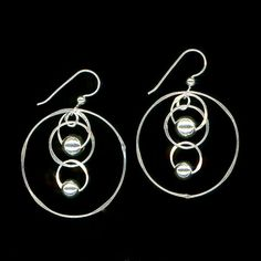 Silver Beaded Chain Link Earrings by WvWorks on Etsy, $39.95