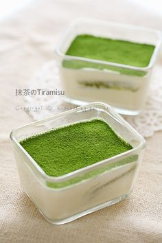 matcha tiramisu :: Just a picture but can use the idea