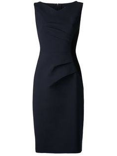 Shop Carolina Herrera gathered side panel dress.